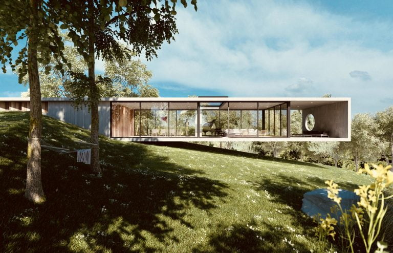 A minimal impact design from Dan Brunn Architecture
