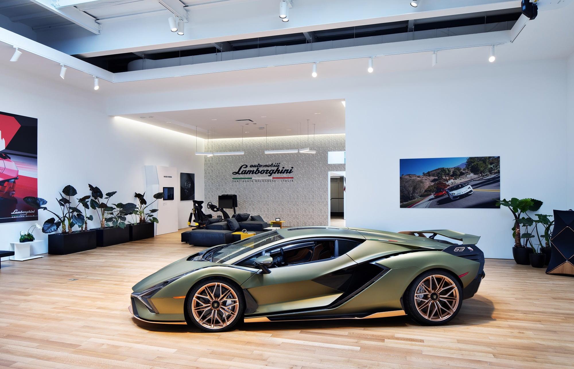 Lamborghini's New NYC Lounge